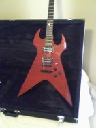 Fireplant Guitars Splitsville in see-thru red.