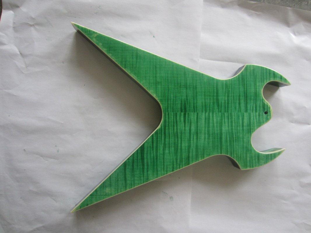 Splitsville Custom Electric Guitar in see-thru green