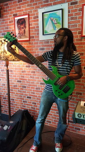Norman Spance Green Fireplant FP-1 Bass LEFTY