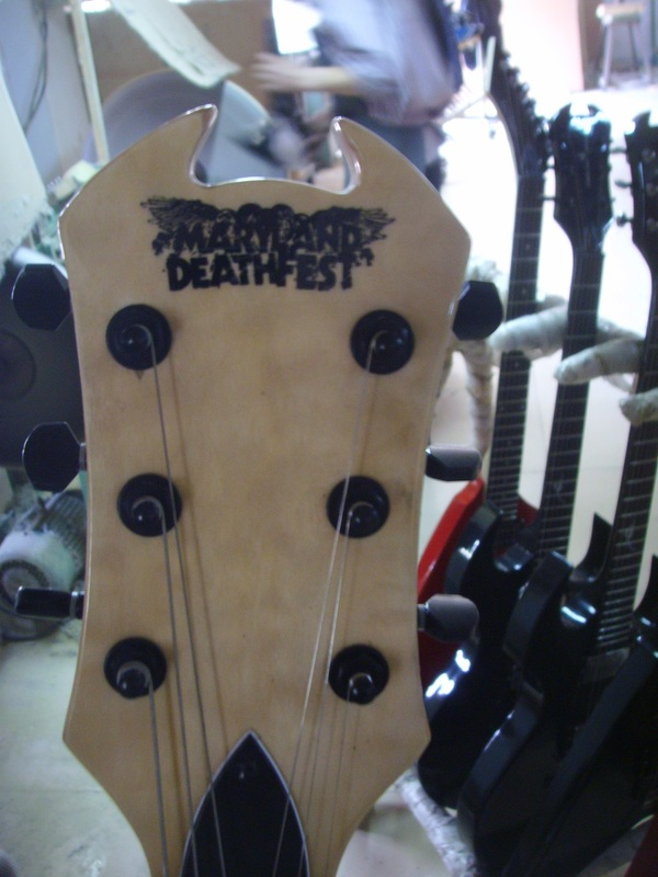 Maryland Deathfest Logo on Headstock