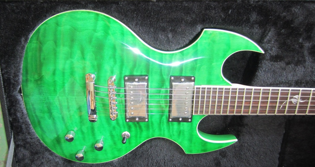 Fireplant FP-1 Quilted maple top, see-thru green