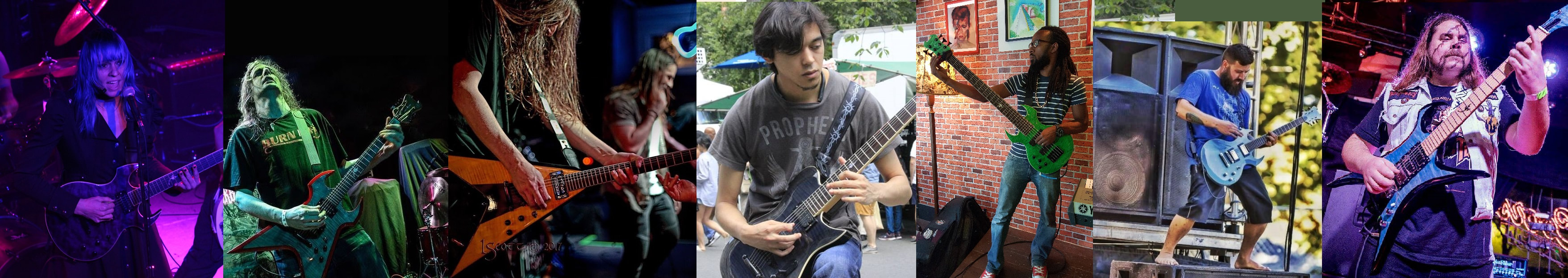 Pictures of Endorsed Artists with Fireplant Guitars