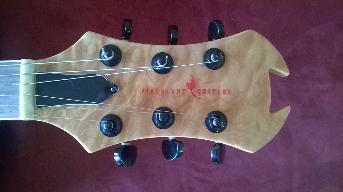 Fireplant Guitars Custom Headstock